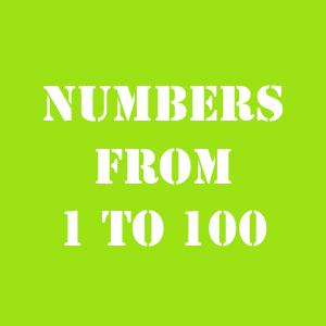 английские буквы до 100