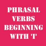 Английские фразовые глаголы на I с переводом и произношением
